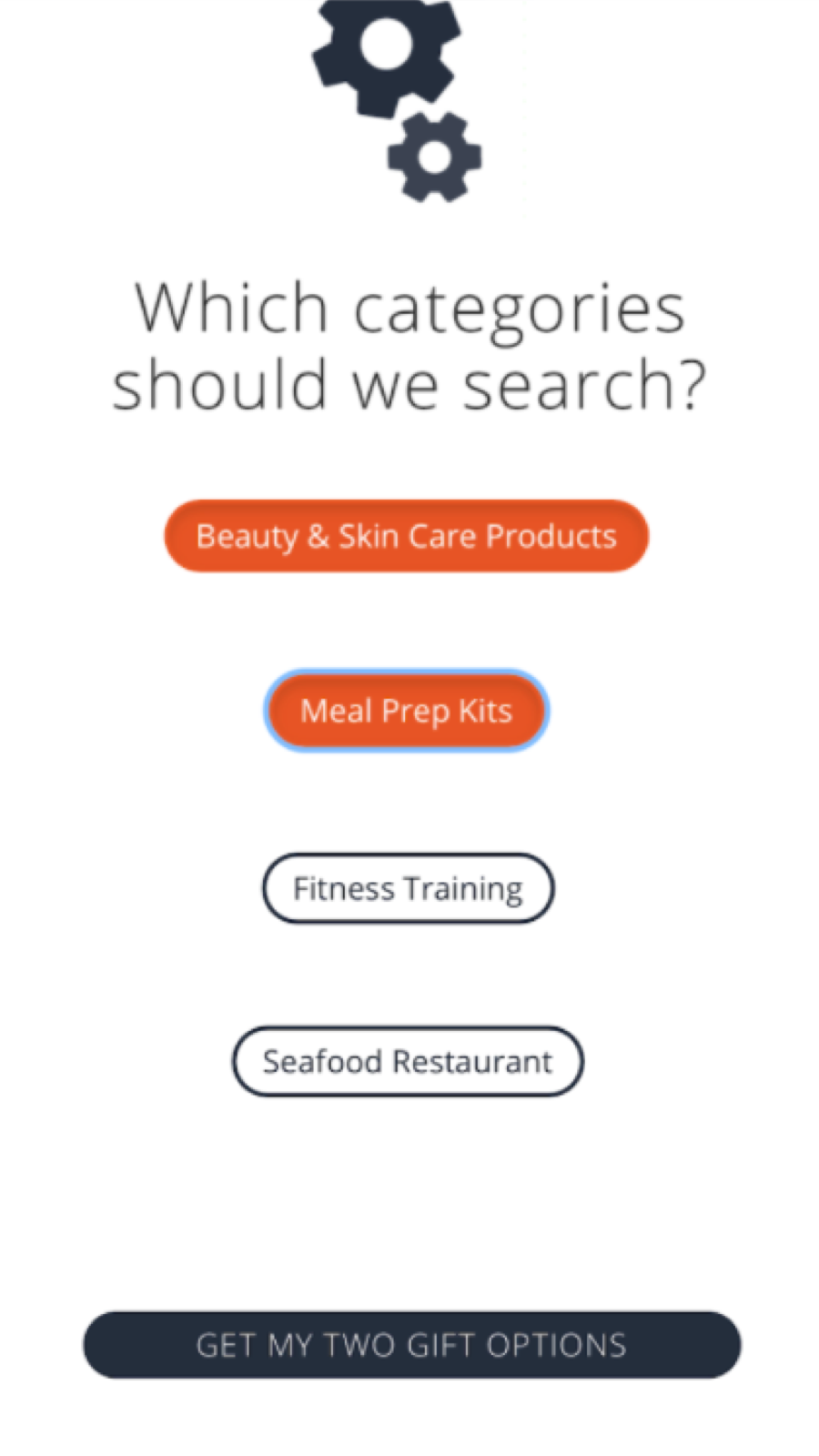 Select categories of businesses you'd like to discover