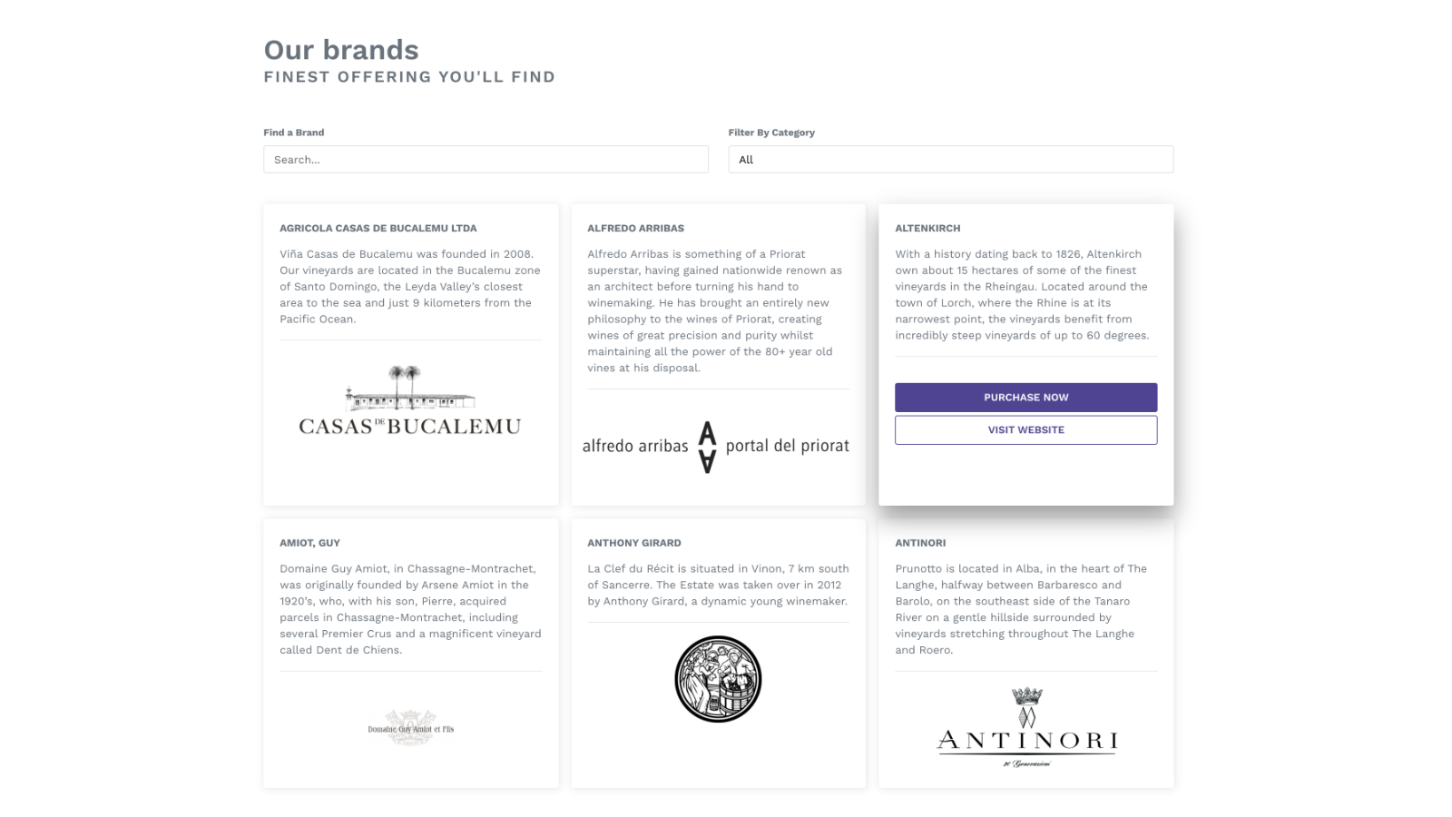 Shop By Brand Front-End