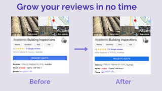 Before and After Google Reviews (Google My Business)