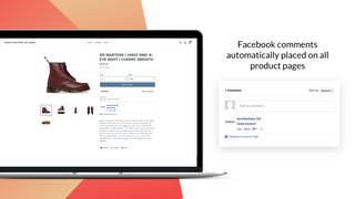 Facebook comment Reviews on all Shopify store product pages