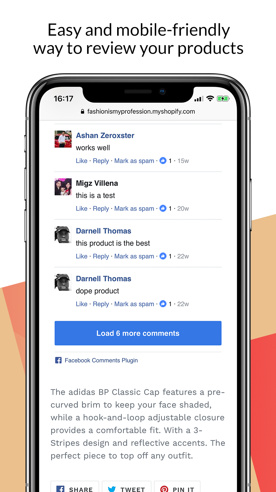 Facebook comments for iOS and Android