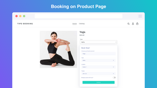 Allow your customer booking an appoiment on product page