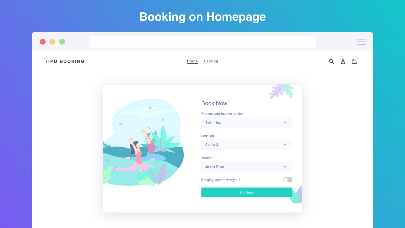 appoinment booking on home page