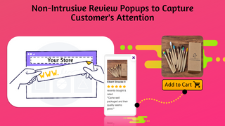 Amazon Reviews app with photo review pop ups