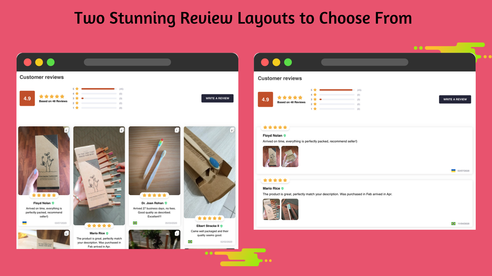 Ali Reviews Stunning review layouts