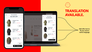 All languages supported on upsell offer