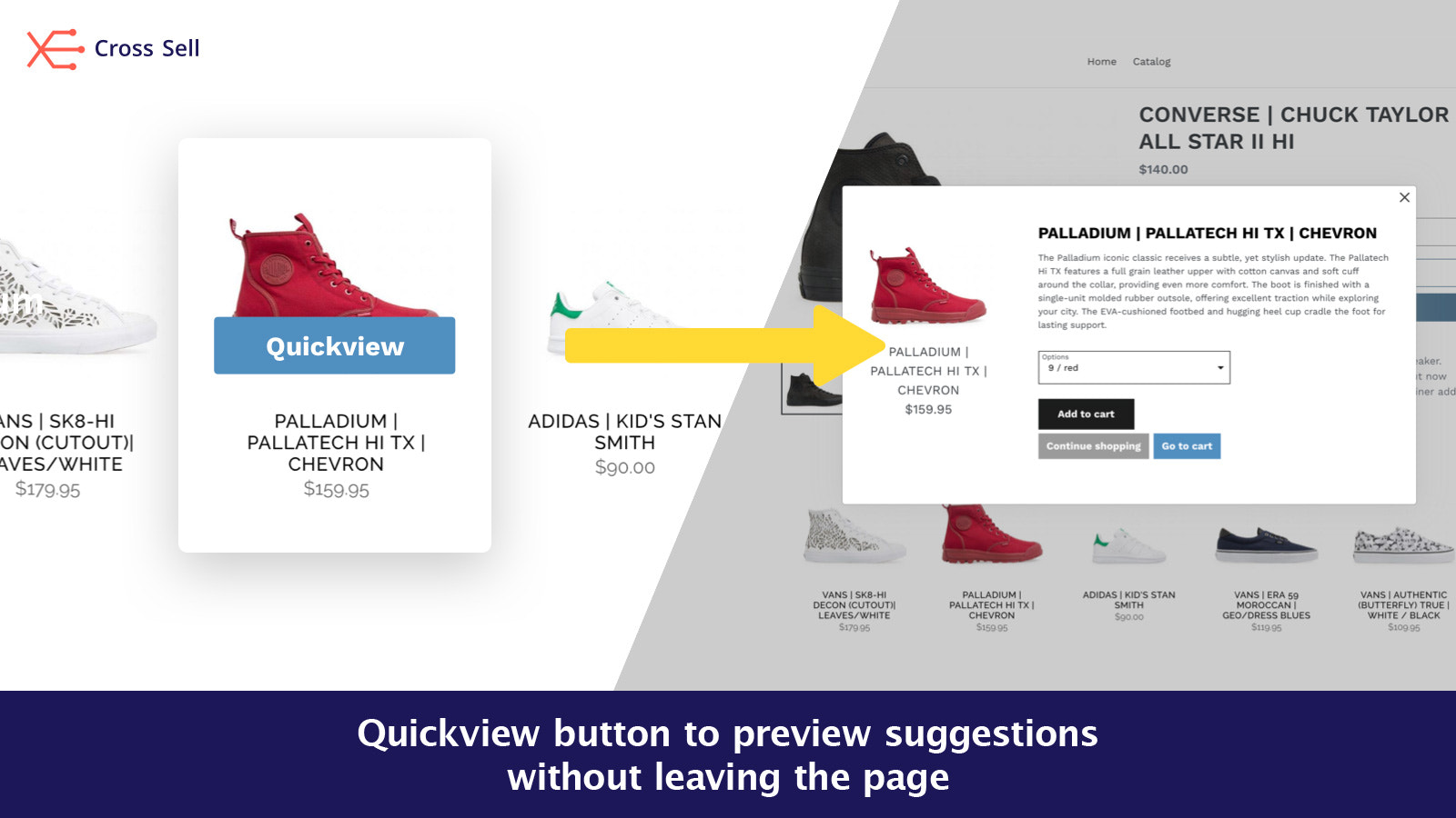 Quickview related products without leaving page