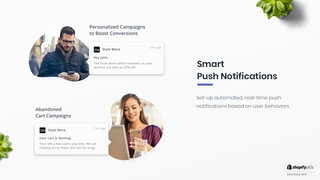 Automated & real-time push notifications based on user behaviors