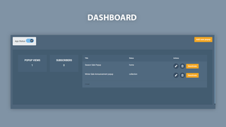 Popup Dashboard