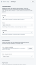 Smart Tags Settings Page
