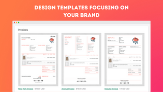 Design templates focusing on your brand
