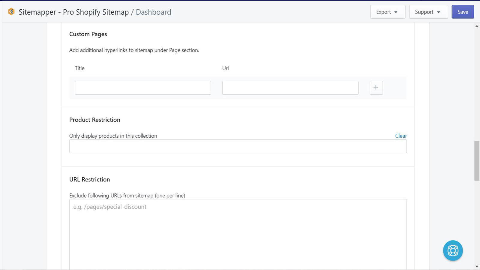 Customize the appearance of Shopify sitemap