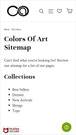 Shopify mobile sitemap for Colors of Art