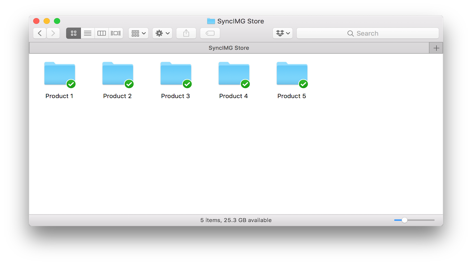 Manage Images in Dropbox Folder