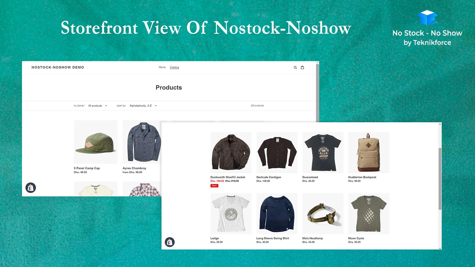 Storefront view of Nostock-Noshow by teknikforce