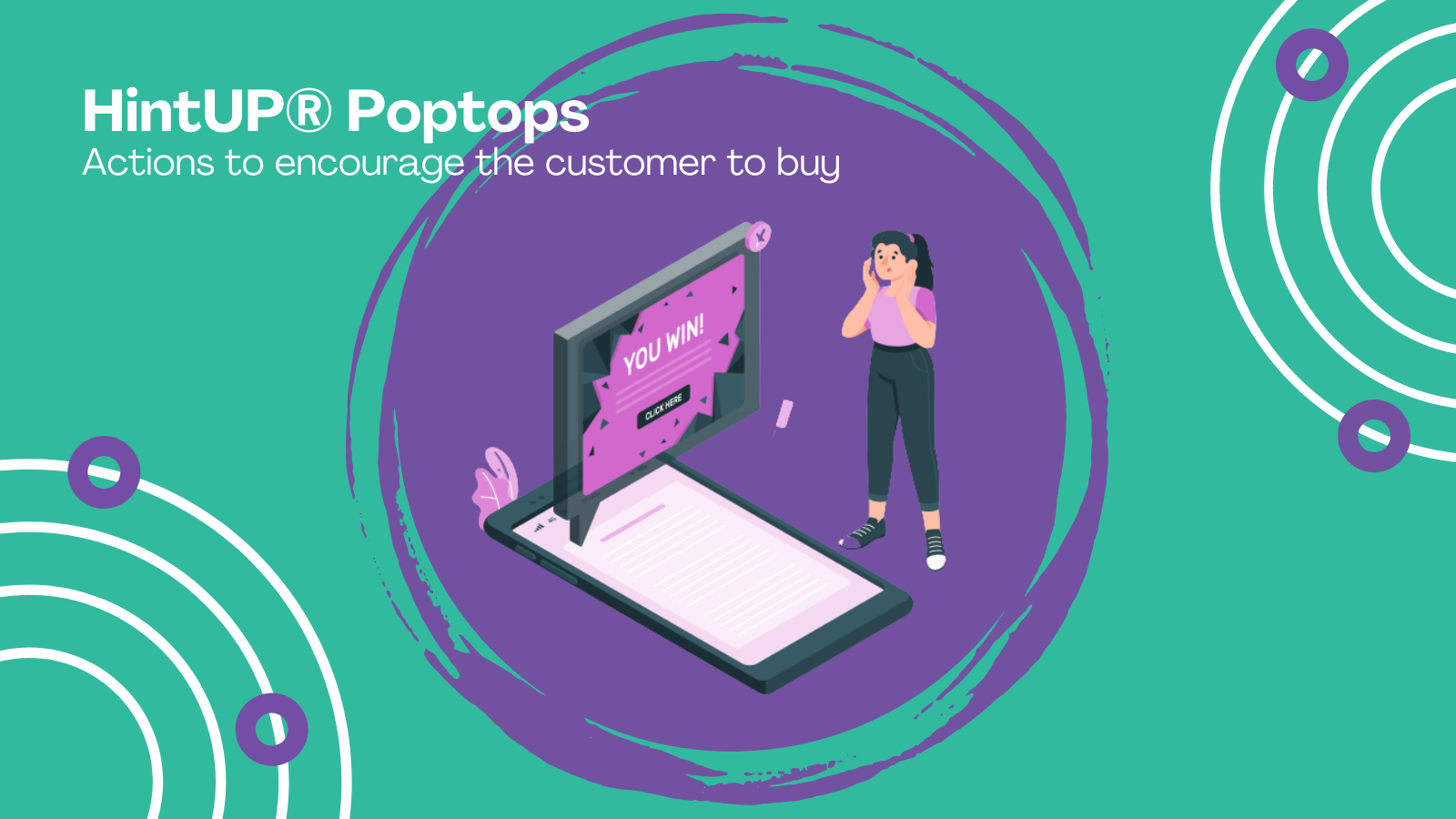 HintUP® Poptops - actions to encourage the customer to buy