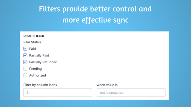 Order filtering to provide better control