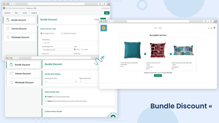 Bundle discount settings and store view