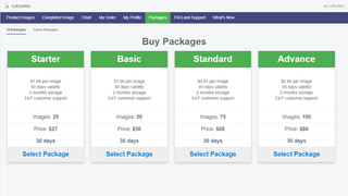 packages page