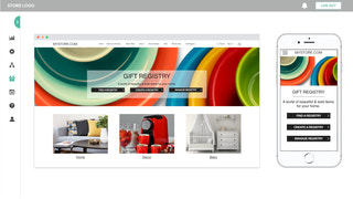 Gift Registry landing page