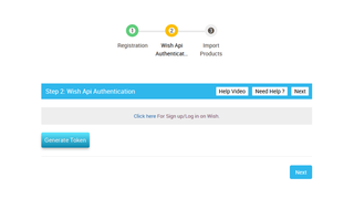 Complete API Configuration of Wish Integration App