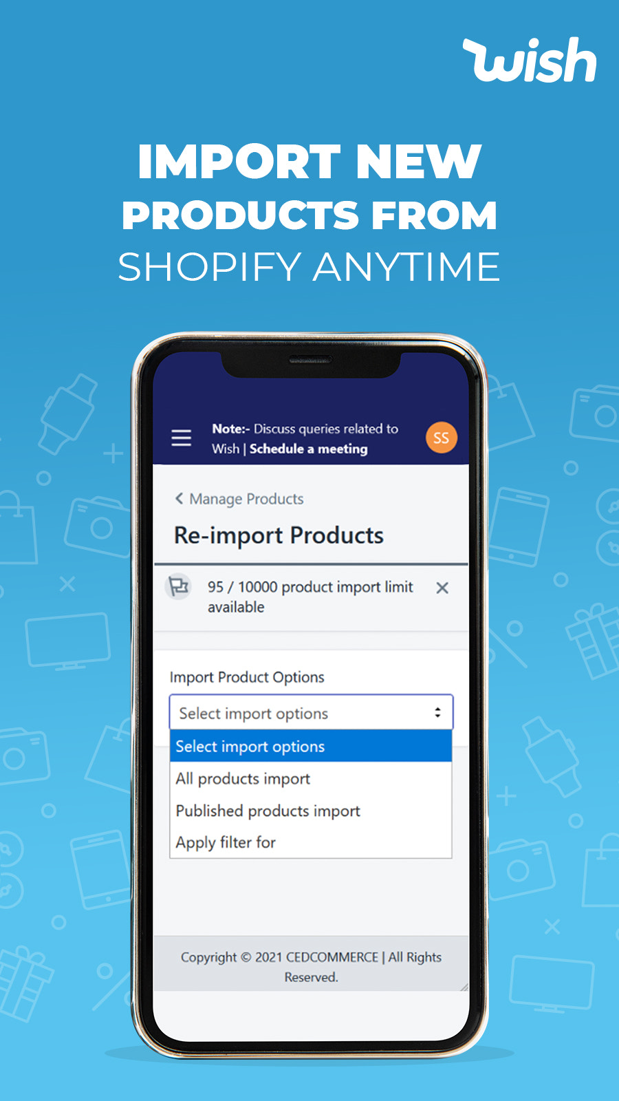 Mobile View of Product Import