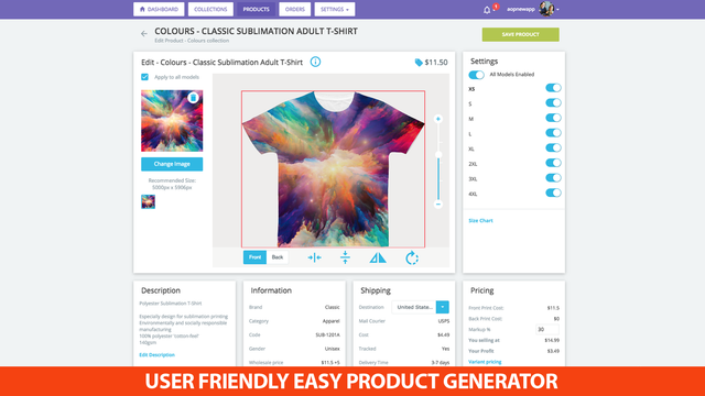 USER FRIENDLY EASY PRODUCT GENERATOR