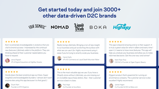 Get started today and join 3000+ other data-driven brands