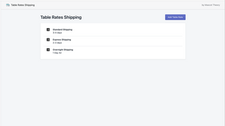 Set multiple rates for different shipping methods