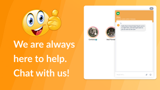 We are always here to help. Chat with us.