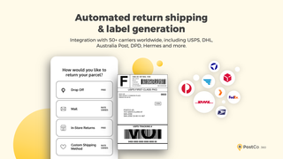 Automated return shipping & label generation