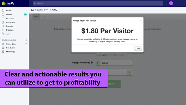 Clear and actionable results you can utilize to get to profitabi