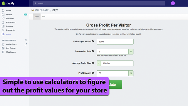 Simple to use calculators to figure out the profit values for yo