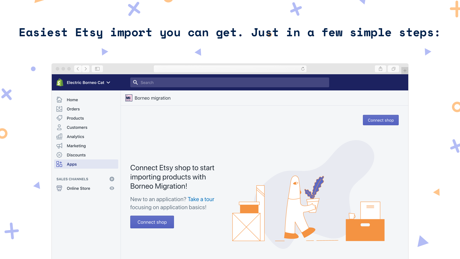 Easiest Etsy import you can get. Just in a few simple steps: