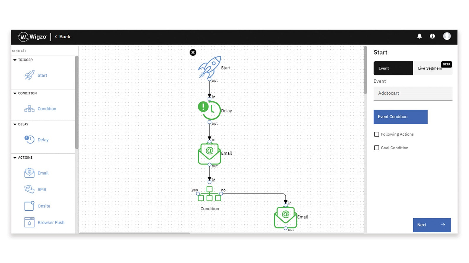 Visual Automation Builder