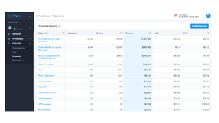 See analytics & target using predefined and custom segments