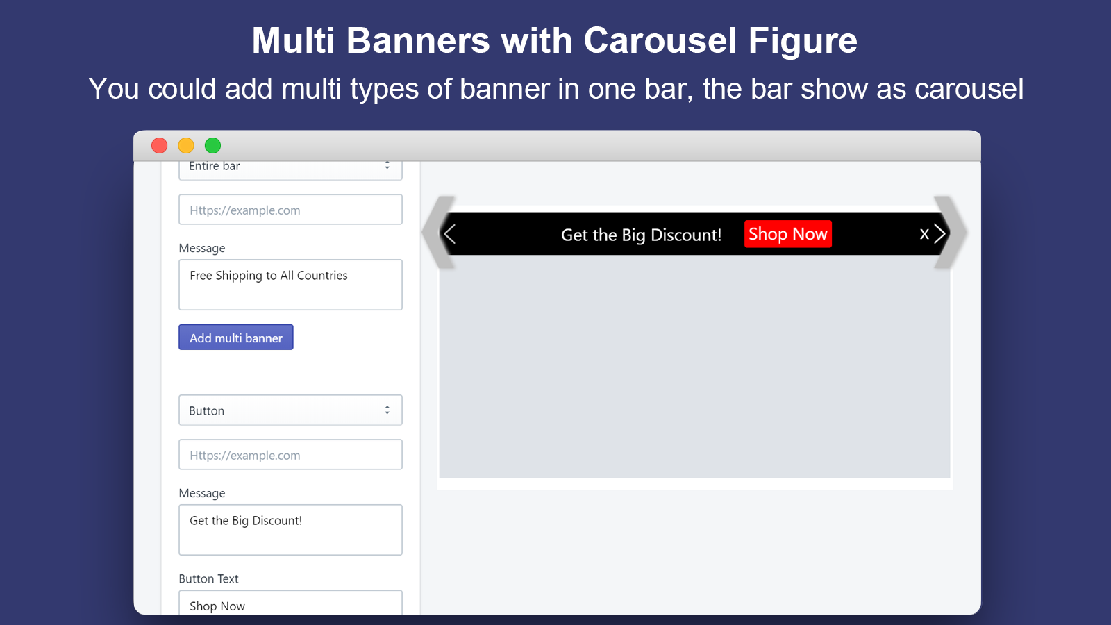 Multi Banners with Carousel Figure_Announcement Bar&GDPR Consent
