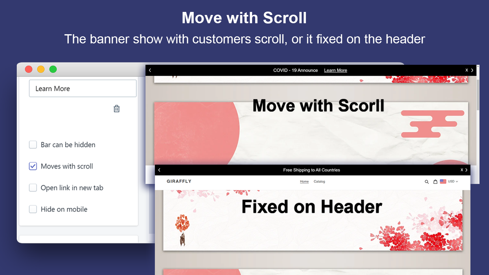 Move with Scroll_Announcement Bar&GDPR Consent