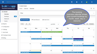 Screenshot BookThatApp Admin Overview Calendar
