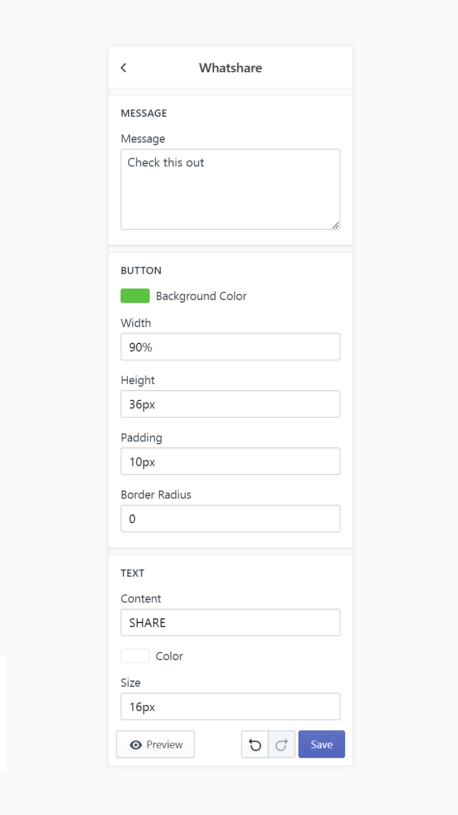 Design your Shopify WhatsApp share button