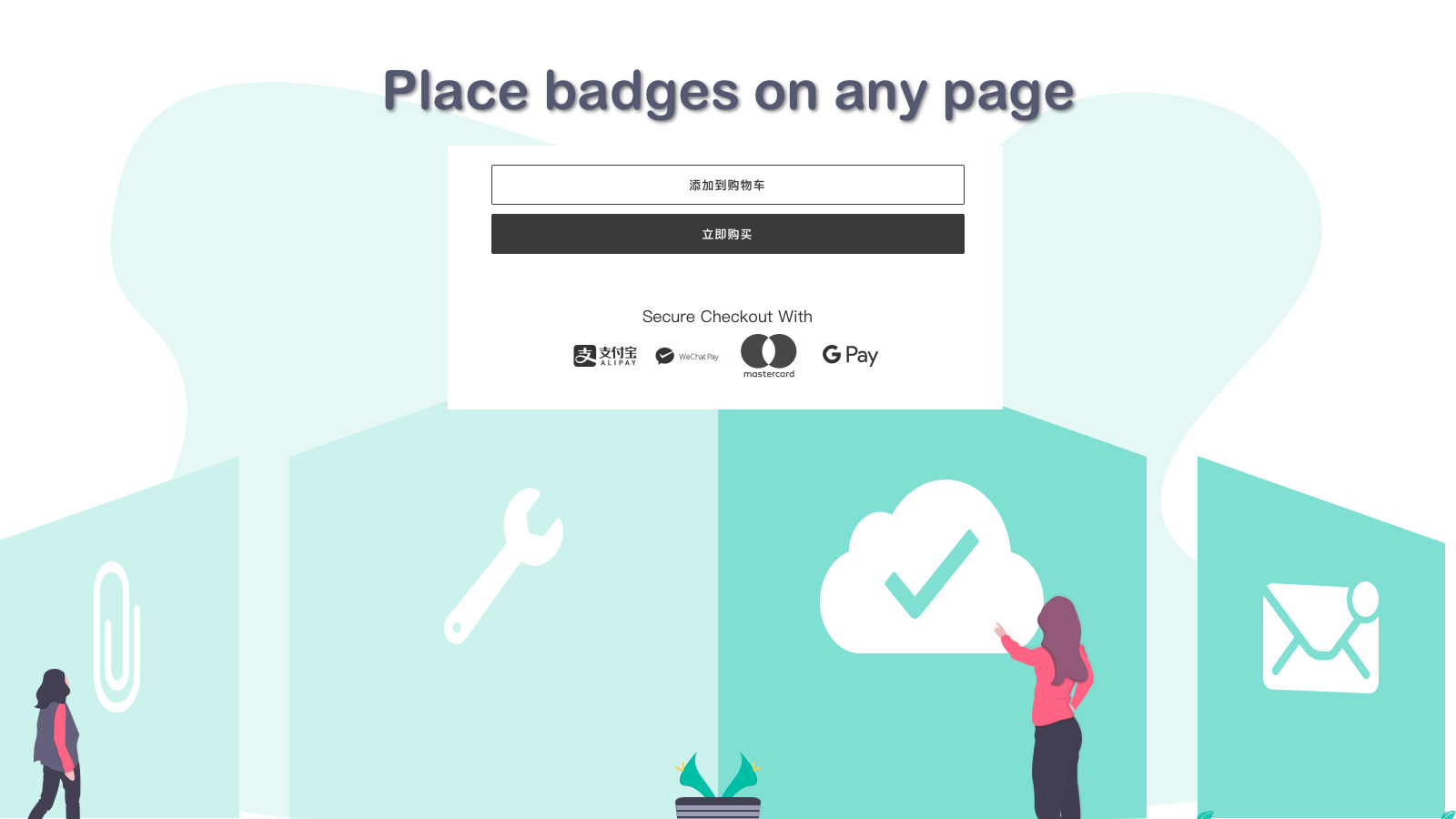 Place badges on any page