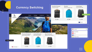 Builder of languages and currencies switchers