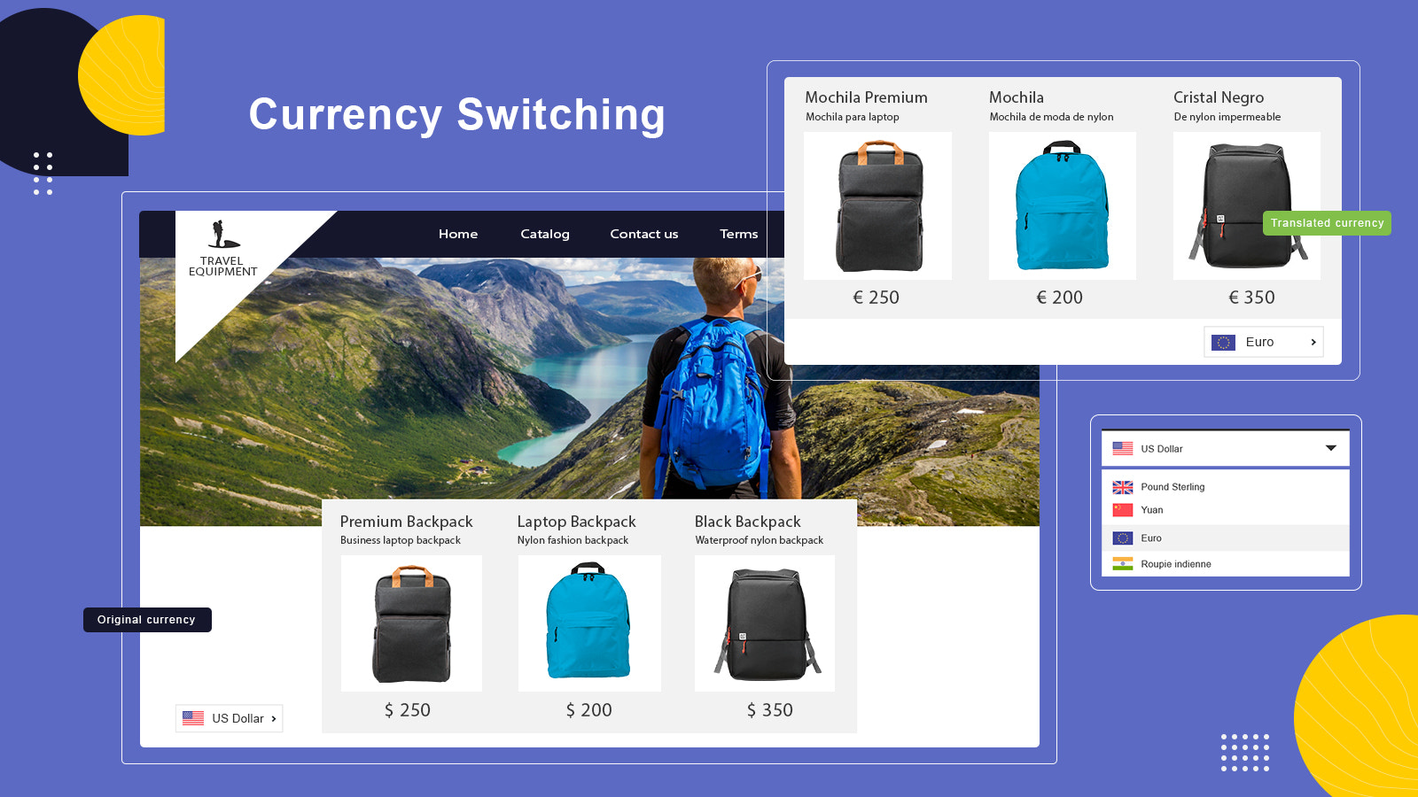 Builder of languages and currency converter