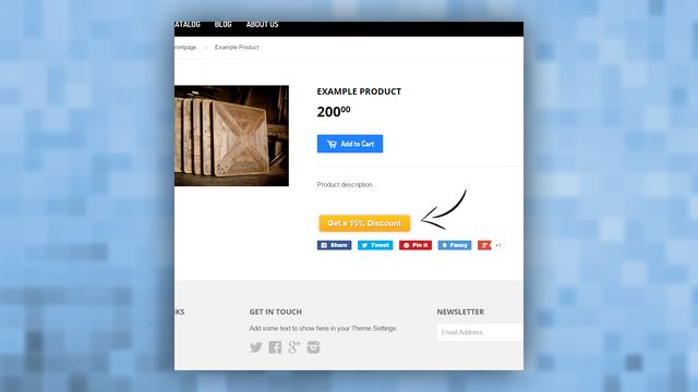 Demo on a product page