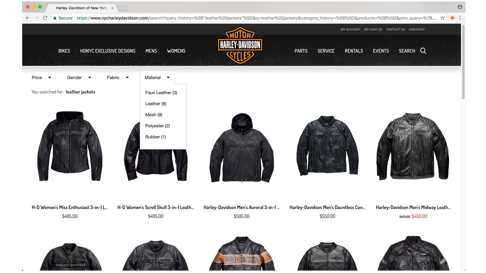 E-commerce Store View: Adeptmind Search Filters in action