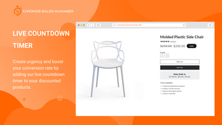 Create urgency displaying a countdown timer