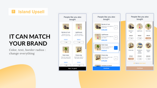 Match your brand easily by customizing every element