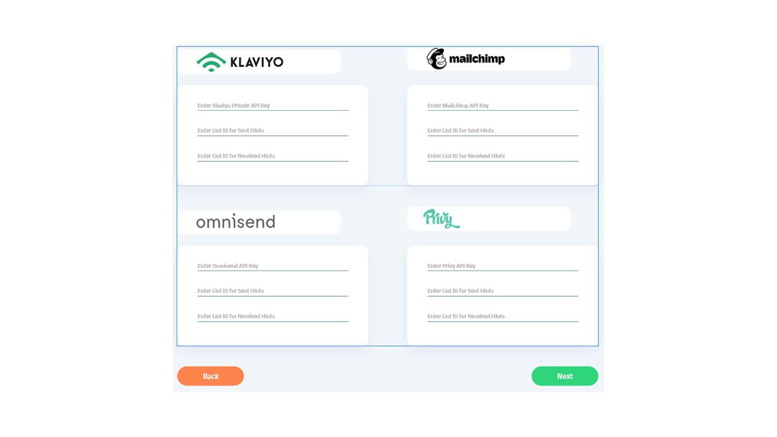 Integrates with multiple marketing platforms