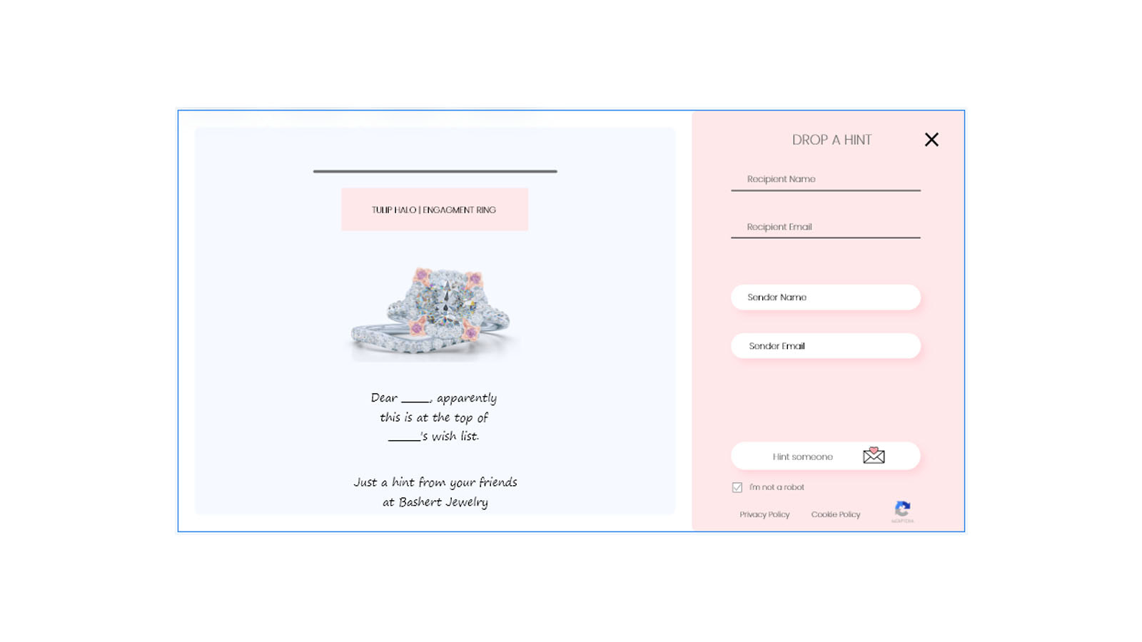Brand your store's hints and messages in your unique way!