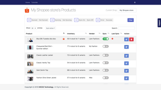 Product sync listing